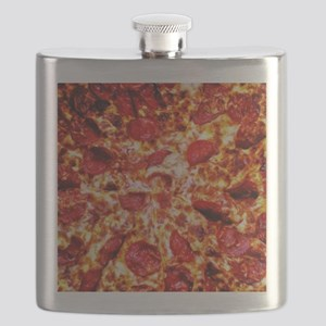 Pizza Painting Flask