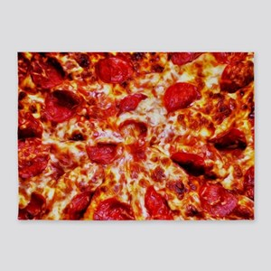 Pizza Painting 5'x7'Area Rug