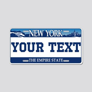 New York 2001 Empire State Aluminum License Plate