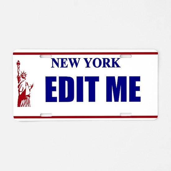 New York - Vanity Statue Of Aluminum License Plate