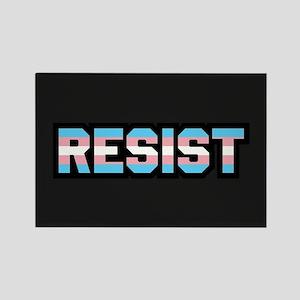 Resist - Trans Pride Rectangle Magnet