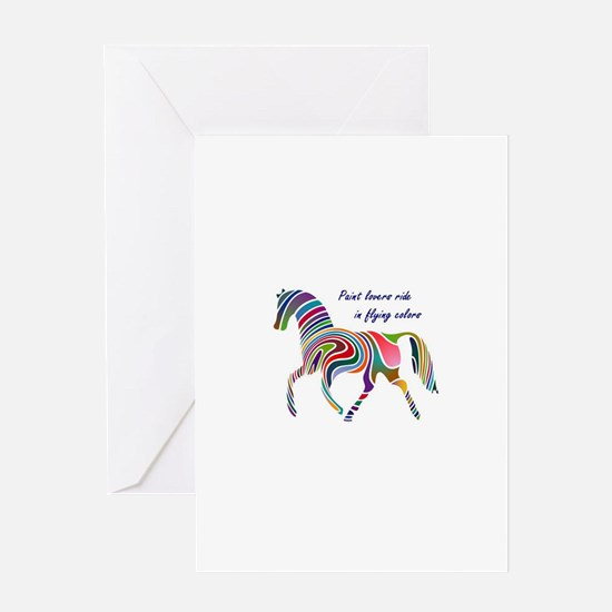 paint horse lovers.JPG Greeting Cards