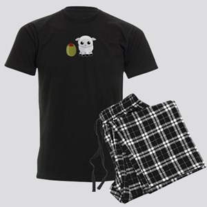 Olive Ewe Men's Dark Pajamas