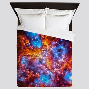 Colorful Cosmos Queen Duvet