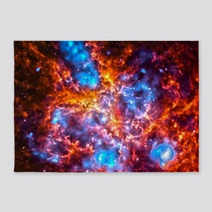Colorful Cosmos 5'x7'Area Rug