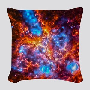 Colorful Cosmos Woven Throw Pillow