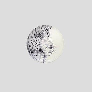 Leopard, wildlife art Mini Button