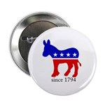 "Democrats - Just Getting Warmed Up 2.25"" Button (1"