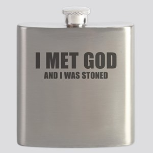 I Met God And I Was Stoned Flask