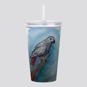 African Grey! Parrot! Acrylic Double-wall Tumbler