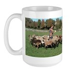 Working the Sheep Large Mug