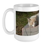 Ranch Cat Sleeping Large Mug