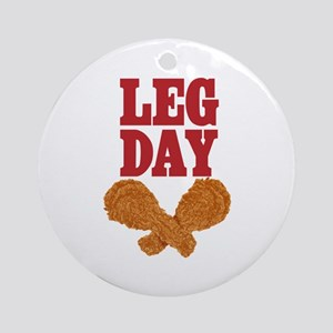 Fried Chicken Leg Day Ornament (Round)