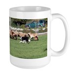 Sheep Herding Large Mug