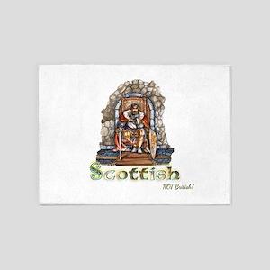 Scottish NOT British 5'x7'Area Rug