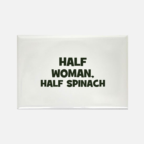 half woman, half spinach Rectangle Magnet