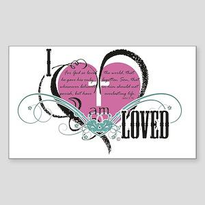 I am loved Sticker (Rectangle)