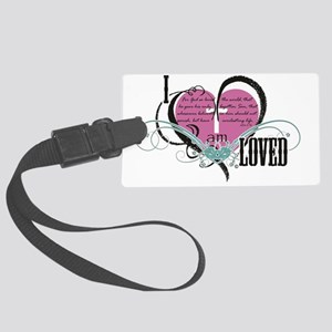 I am loved Large Luggage Tag