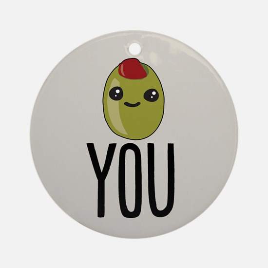 Olive You Ornament (Round)
