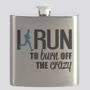 I run to burn off the crazy Flask