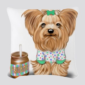 Peanut Butter Lover ByCatiaCho Woven Throw Pillow