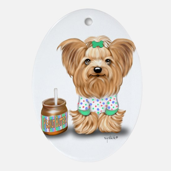 Peanut Butter Lover ByCatiaCho Ornament (Oval)