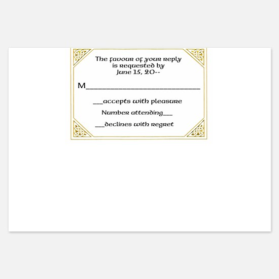 Claddaugh Wedding RSVP / Reply Cards Invitations