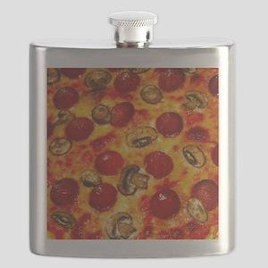 Pepperoni and Mushroom Pizza Flask