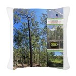 Large tall trees #odcctv Woven Throw Pillow