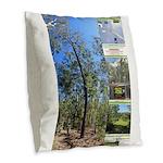 Large tall trees #odcctv Burlap Throw Pillow