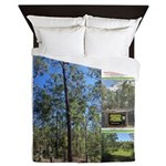 Large tall trees #odcctv Queen Duvet