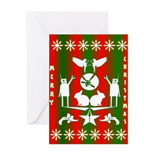 Ugly Christmas Greeting Cards - CafePress