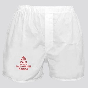 Keep calm we live in Tallahassee Flor Boxer Shorts