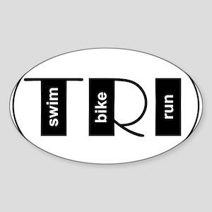 TRI Oval Sticker