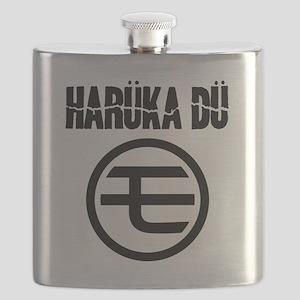 Haruka Du - Mo Logo - Black Flask