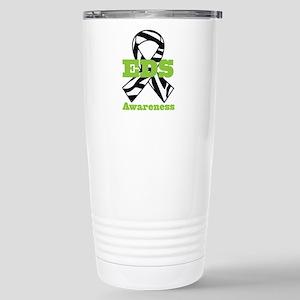 EDS Awareness Zebra Rib Stainless Steel Travel Mug