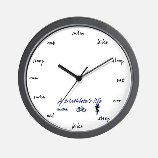 Triathletes Clock Wall Clock