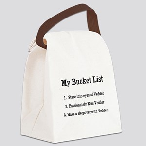 Personalized My Bucket List Canvas Lunch Bag