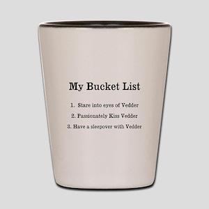 Personalized My Bucket List Shot Glass