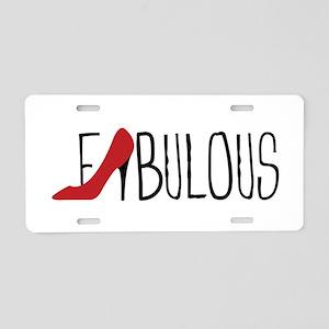 Fabulous Shoe Aluminum License Plate