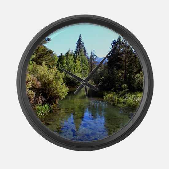 Mountain Reflections Large Wall Clock