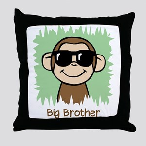 Big Brother Monkey Throw Pillow