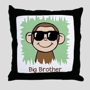 Big Brother Monkey Throw Pillow