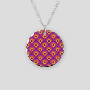 Retro Fun Necklace Circle Charm