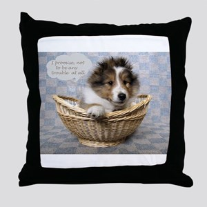 I promise not to be any trouble at al Throw Pillow