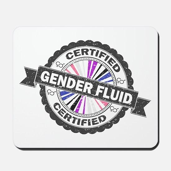 Certified Gender Fluid Stamp Mousepad