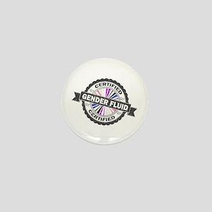 Certified Gender Fluid Stamp Mini Button