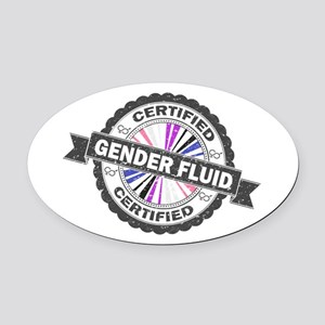 Certified Gender Fluid Stamp Oval Car Magnet