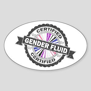 Certified Gender Fluid Stamp Sticker (Oval)