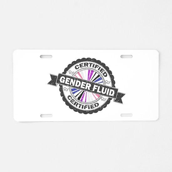 Certified Gender Fluid Stam Aluminum License Plate